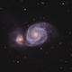 M51 - Whirlpool  Galaxy,                                Mike Sheffler