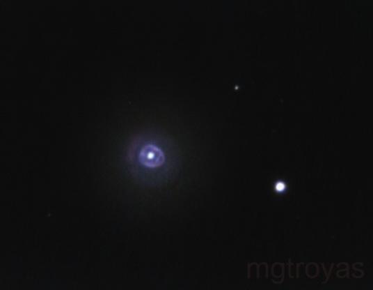 Eskimo nebula (NGC 2392) with planetary camera,                                Marcos González T...