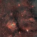 La nebulosa Bolla e l'ammasso M 52,                                gagba