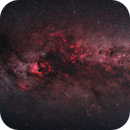 Milky Way in Cygnus and Meteor,                                Sergiy Stepanenko