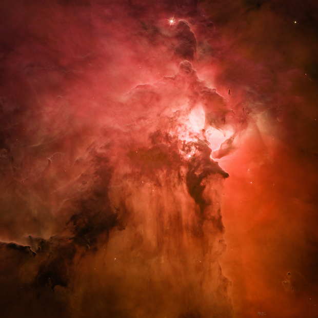 Hubble Data Processing: Vast Stellar Nursery of Lagoon Nebula,                                Min Xie