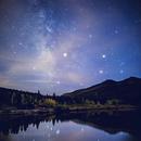The Milky Way at Lily Lake, Colorado,                                TimothyJinx