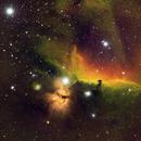 Horsehead and Flame Nebulae, Broadband and Narrowband Mixture,                                Linwood Ferguson