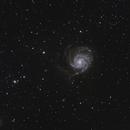 M101 The Pinwheel Galaxy,                                 degrbi