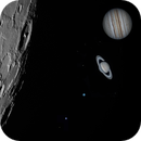 The 12.6 Days Old Moon with Gas Planets,                                astropical