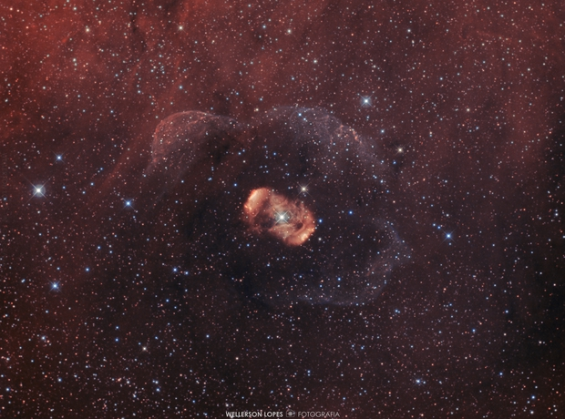 NGC6164 and NGC6165 - Dragon's Egg of Ara - Bipolar Nebula on bicolor palette,                                Wellerson Lopes
