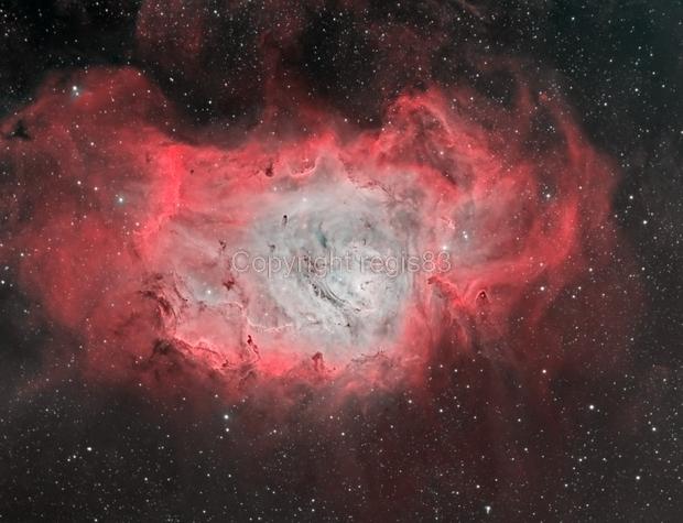 Messier 8 - Lagoon Nebula Bi-Color,                                regis83