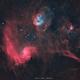 The Tadpoles and Flaming Star Nebulae (IC 410 && IC 405),                                Maroun Habib