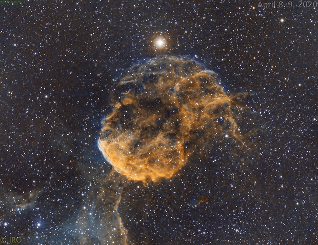 Jellyfish nebula in narrowband,                                Tom's Pics