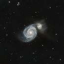 M51 The Whirlpool Galaxy at 1000mm,                                John Tucker