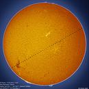 Solar nirvana (H-alpha) and ISS transit,                                Łukasz Sujka
