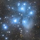 M45-Pleiades Cluster,                                Ke Meow