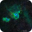 Heart and Soul nebulae in SHO,                                Andrew_B