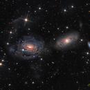Interacting galaxies - NGC 3169, NGC 3166, and NGC 3165,                                Terry Robison