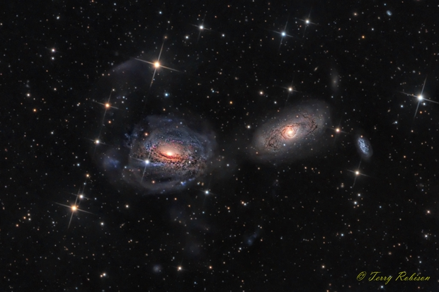 Interacting galaxies - NGC 3169, NGC 3166, and NGC 3165,                                Terry Robison