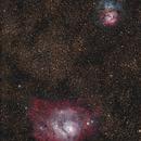 M20 Trifid and M8 Lagoon nebula,                                Saša Nuić