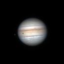 Jupiter and Io @27° alt. 7/21/2021 00:13 UTC,                                Falk Schiel