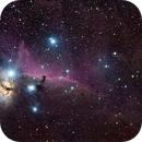 Horsehead and Flame Nebulas - Wide Field Dust and Reflections,                                Jon Rista