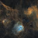 Flaming Star Region Mosaic: IC405, IC410, and IC417,                                Monkeybird747
