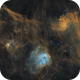 Flaming Star Region Mosaic: IC405, IC410, and IC417,                                Monkeybird747