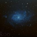M 33 Galaxie du triangle,                                Bokou