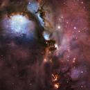 Herbig Haro 24 Region - Messier 78 - 8 panel Mosaic new attempt - Subaru Telescope Data ! :-),                                Daniel Nobre