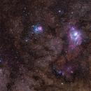 Lagoon and Trifid - M8-M20 Nebulae - Reprocessed,                                Gabriel R. Santos (grsotnas)