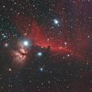 Horsehead and Flame Nebulas using Ha-OIII-RGB combination,                                JDJ