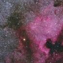 North America nebula taken with 135mm Rokinon lens,                                Marc Ricard