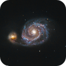Whirlpool Galaxy - M51,                                SkyRacer