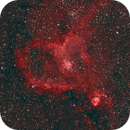 HOO-RGB Heart nebula in its starry field,                                Ben