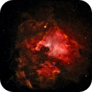 North American Nebula Wide Field Narrow Band tonemap, with color stars from DSS,                                dts350z