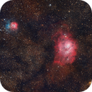 M8 - M20 Widefield - First Light with my new ASI 2600 MC Pro,                                Frank Rogin