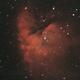 NGC 281 HaRGB with bad collimation,                                MLuoto