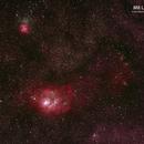 Lagoon Nebula (M8),                                Wirati