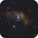 Bubble Nebula in SHO with RGB stars,                                Anis Abdul