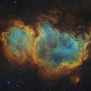 The Soul Nebula SHO with RGB Stars,                                Terry Hancock