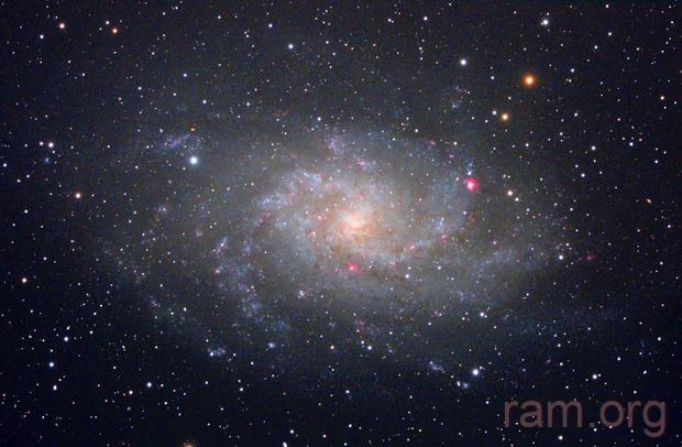 Triangulum galaxy M33/NGC598 (c-lrgbhos),                                Ram Samudrala