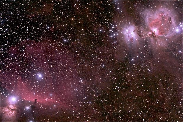 Horsehead and Orion Nebulas,                                wei-hann-Lee