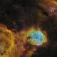 NGC3324 and IC2599 (Gabriela Mistral Nebula) [SHO],                                Dean Carr