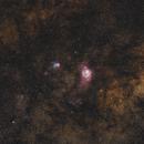 M8 Lagoon Nebula - M20 Trifid Nebula 20200719 3121s 02.7.4,                                Allan Alaoui