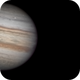 Jupiter with the shadow of europe, and the moons Io and Ganymedes,                                Fernando Oliveira...