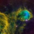 NGC 3324 - Gabriel Mistral Nebula in SHO,                                Wayne Stronach