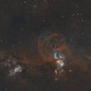 NGC 3576 - The Statue of Liberty Nebula - Cropped,                                Paul Hancock