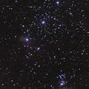 Orion-Gürtel mit Orionnebel, Flammennebel und etwas Pferdekopfnebel (Kamera-Objektiv ohne Nachführung),                                Florian Kolbe