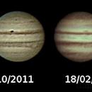 Jupiter storms rotation,                                bzizou