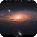 M31 - The Andromeda Galaxy 2 panels mozaic,                                Brice Blanc