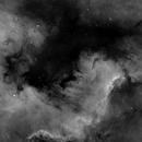 Six Panel Mosaic of North America Nebula (NGC7000) in Ha,                                Rathi Banerjee