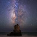 Milky Way over Davenport Rock,                                Steve_Peters