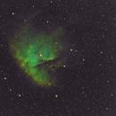 NGC 281 Pacman Nebula-HA-SHO-Meade triplet-Orion flattener-ASI 1600-MM-crop,                                Adel Kildeev